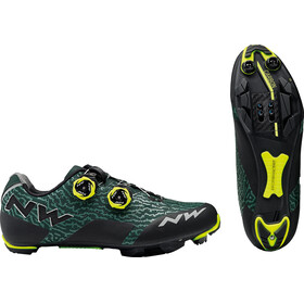 Northwave Rebel Shoes Men green gable/yellow fluo
